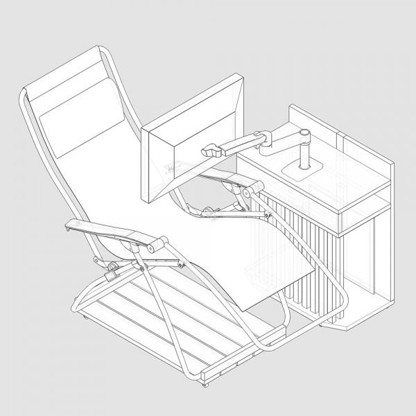 リクライニングチェアを使えるパソコンラック