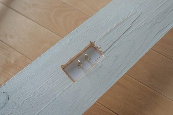 シーリングコネクタの板材にはめ込み
